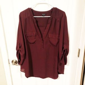 Torrid Burgundy Blouse